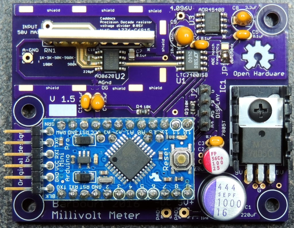 Original Millivolt board V 1.5 Top Components