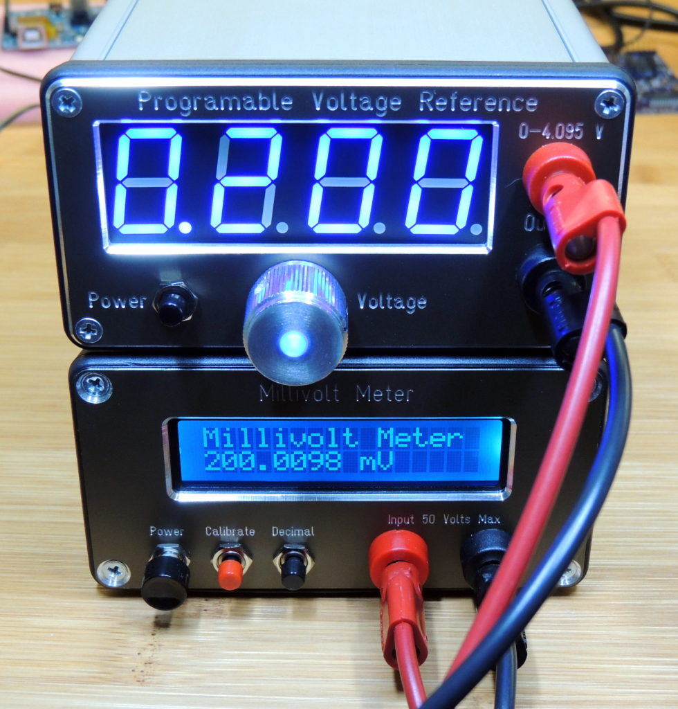 Output set to 200 mV on the Programmable Voltage Reference and reading 200.009 mV