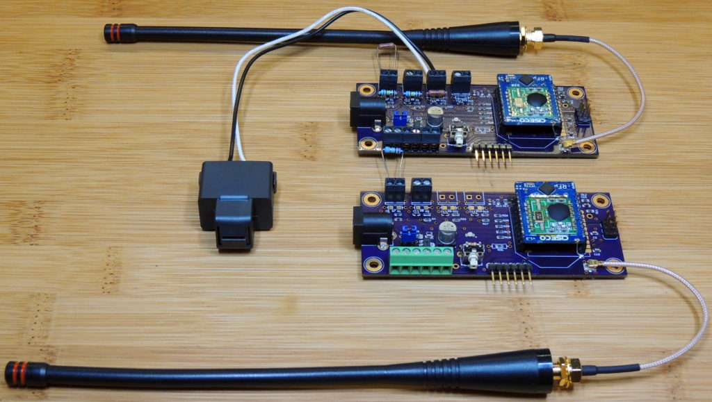 Pair of compact EMON-TX boards