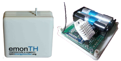 OpenEnergyMonitor emonTH temperature and humidity sensor and transmitter module