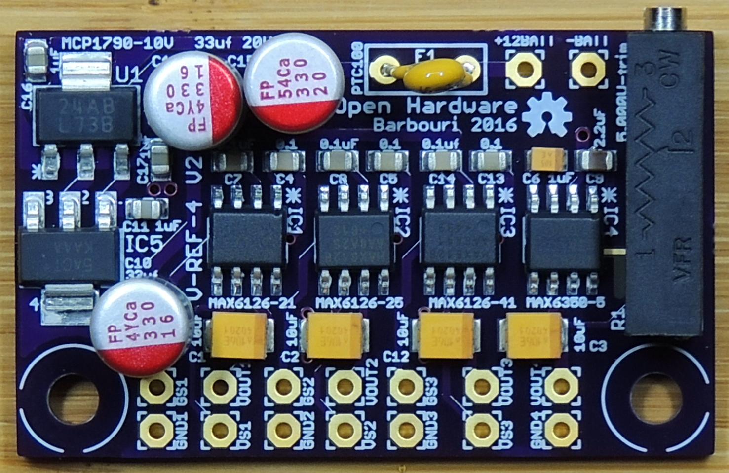 Voltage Reference Quad Project Version 2 Part 1 Barbouris Circuit Diagram