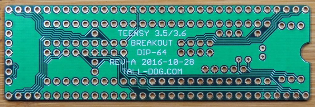 Teensy 3.5/3.6 Breakout (Revision A, DIP-64) Board