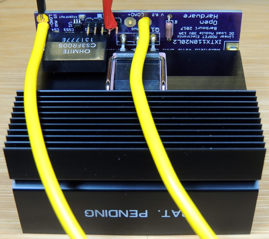 Initial testing of the DC Load Module at 25 volts and 3 amps