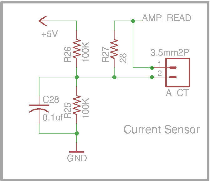 DIY Open EVSE 4.23 Current sense section schematic