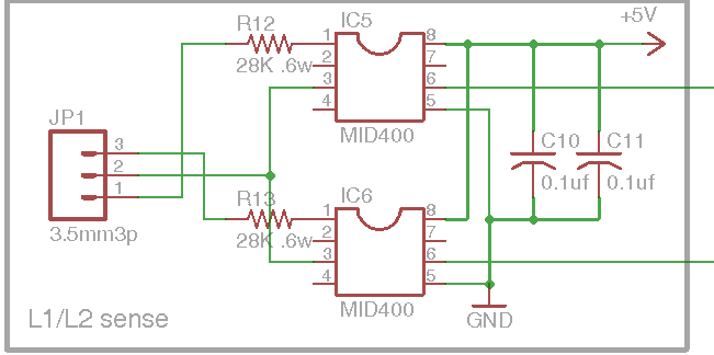DIY Open EVSE 4.23 L1/L2 Relay Sense section schematic