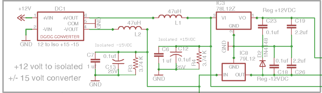 DIY Open EVSE 4.23 Isolated power section schematic