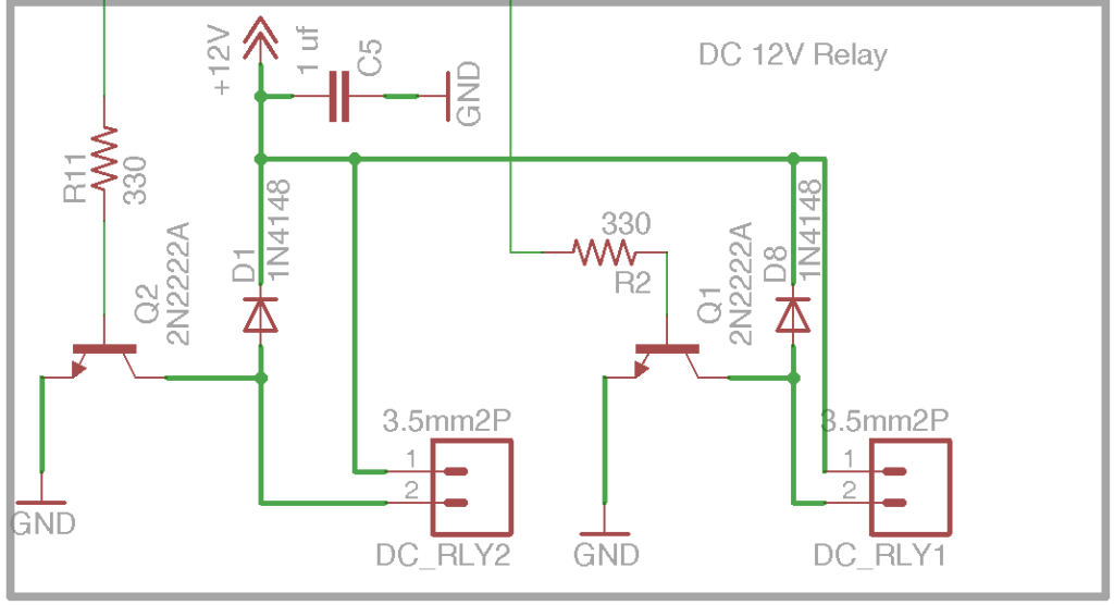 DIY Open EVSE 4.23 DC Relays Output section schematic
