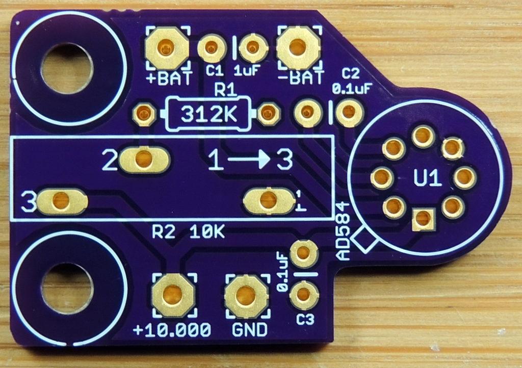 AD584 Precision Voltage Reference 10V board top