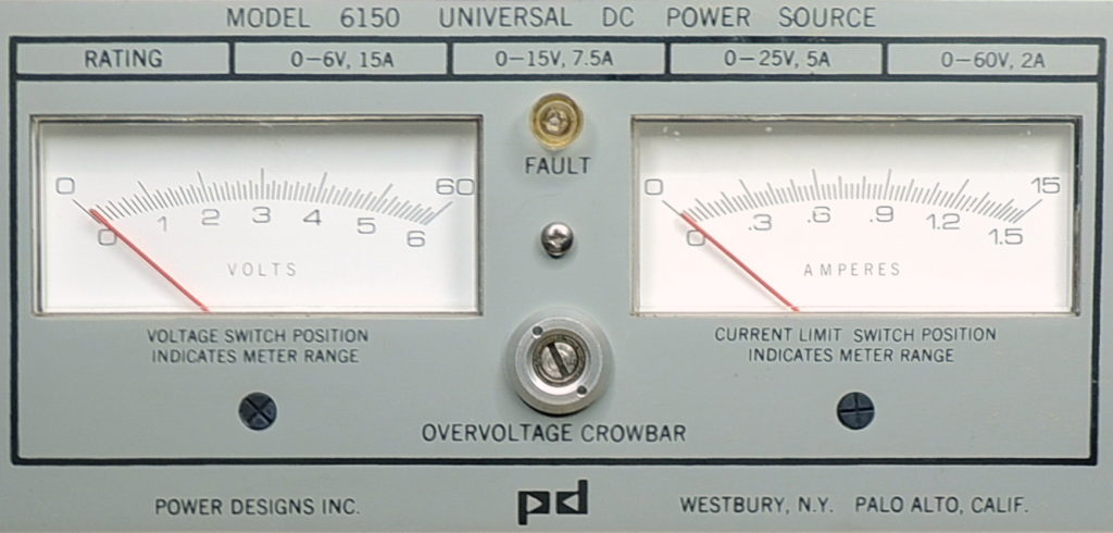 Power Designs 6150 front panel meters