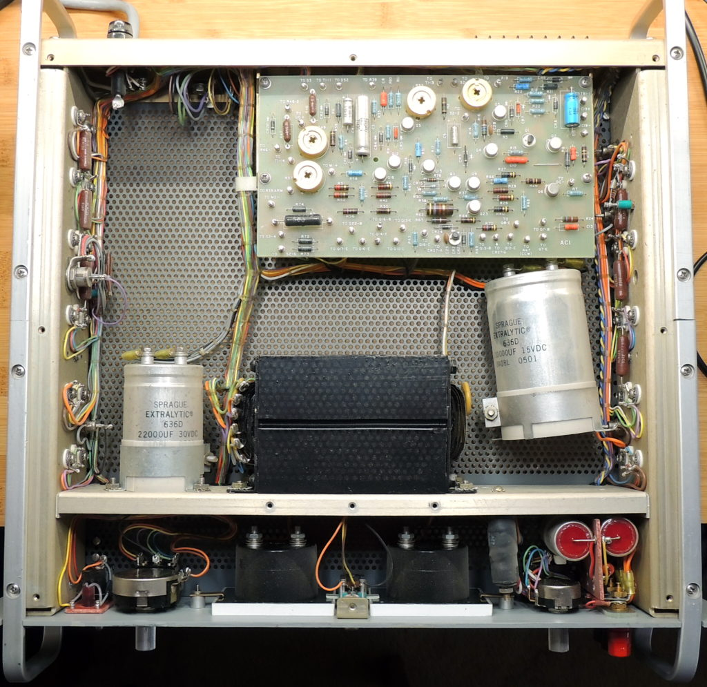 PD6150 Shipping with loose capacitor top view with cover removed