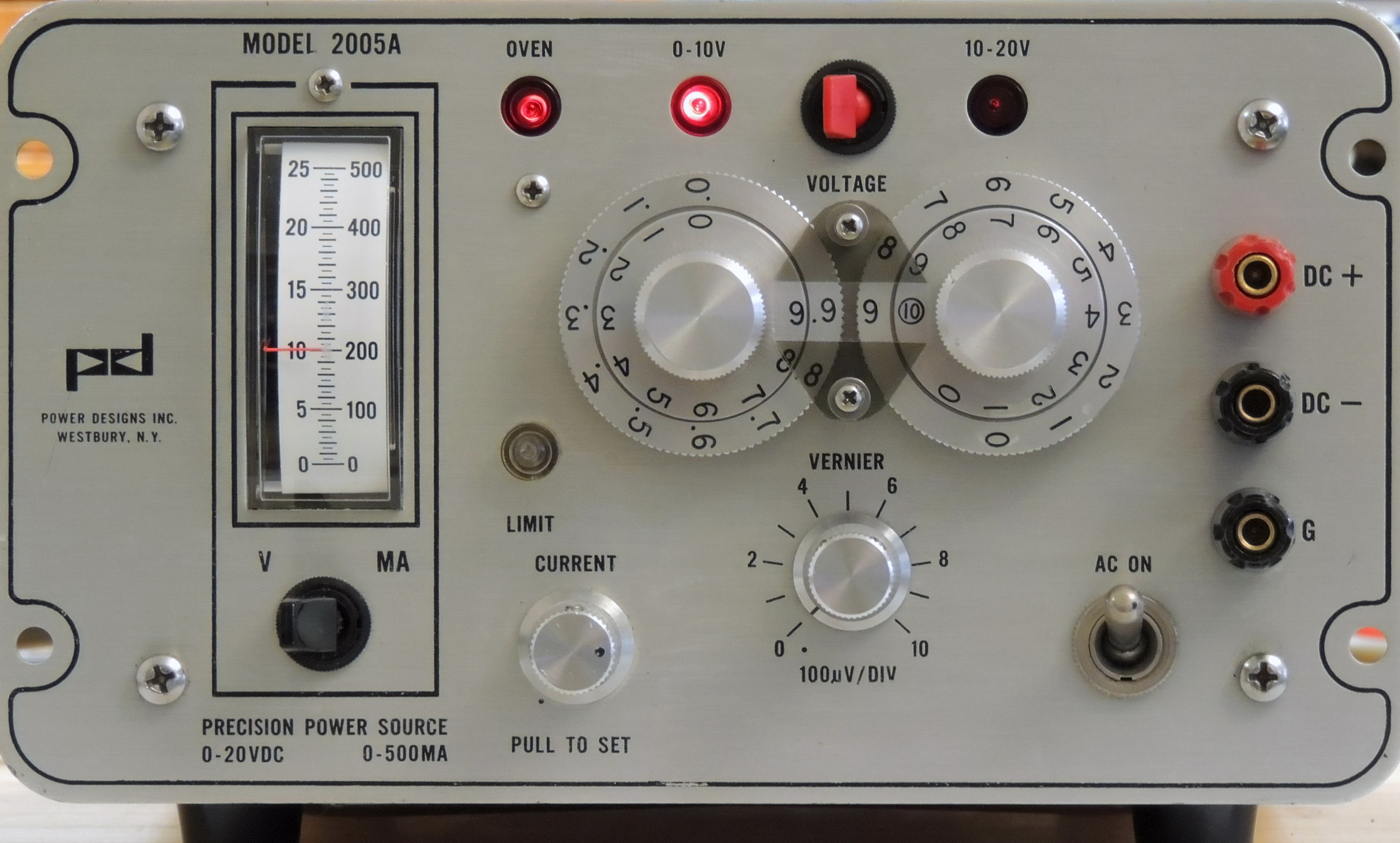 Power Designs 2005a Precision Source Barbouris Electronics Audio Millivoltmeter Circuit Inc After Cleaning And Repairs