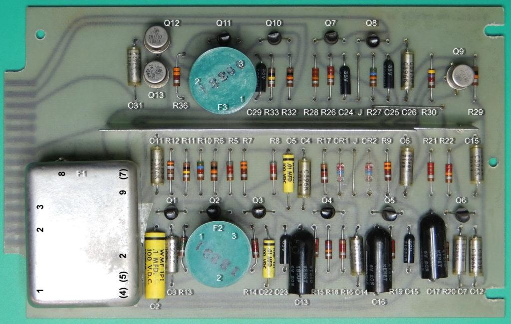 ESI 250DE-Impedance Bridge board front component labels (click to enlarge)