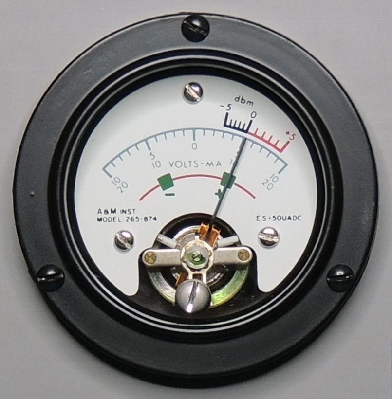 ESI 250DE-Impedance Bridge Front A&M meter model 265-874