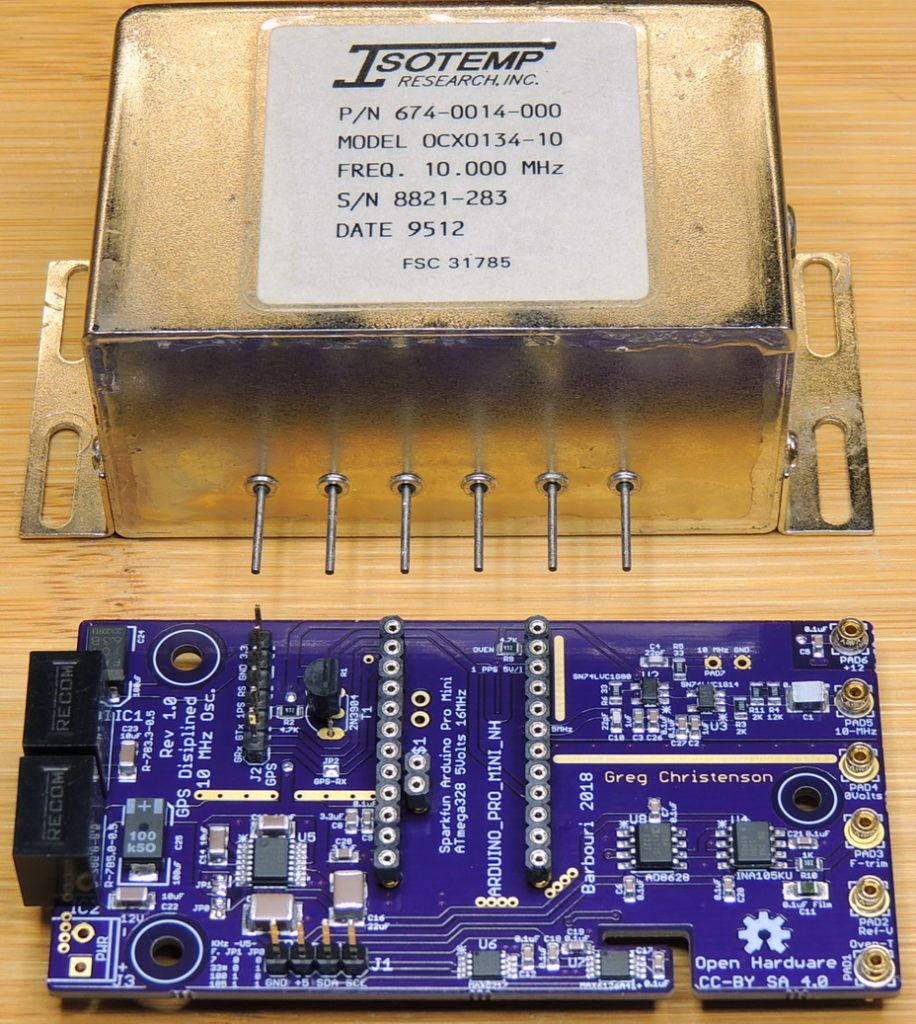GPSDO 10MHz Board with Isotemp 10 MHz OCXO