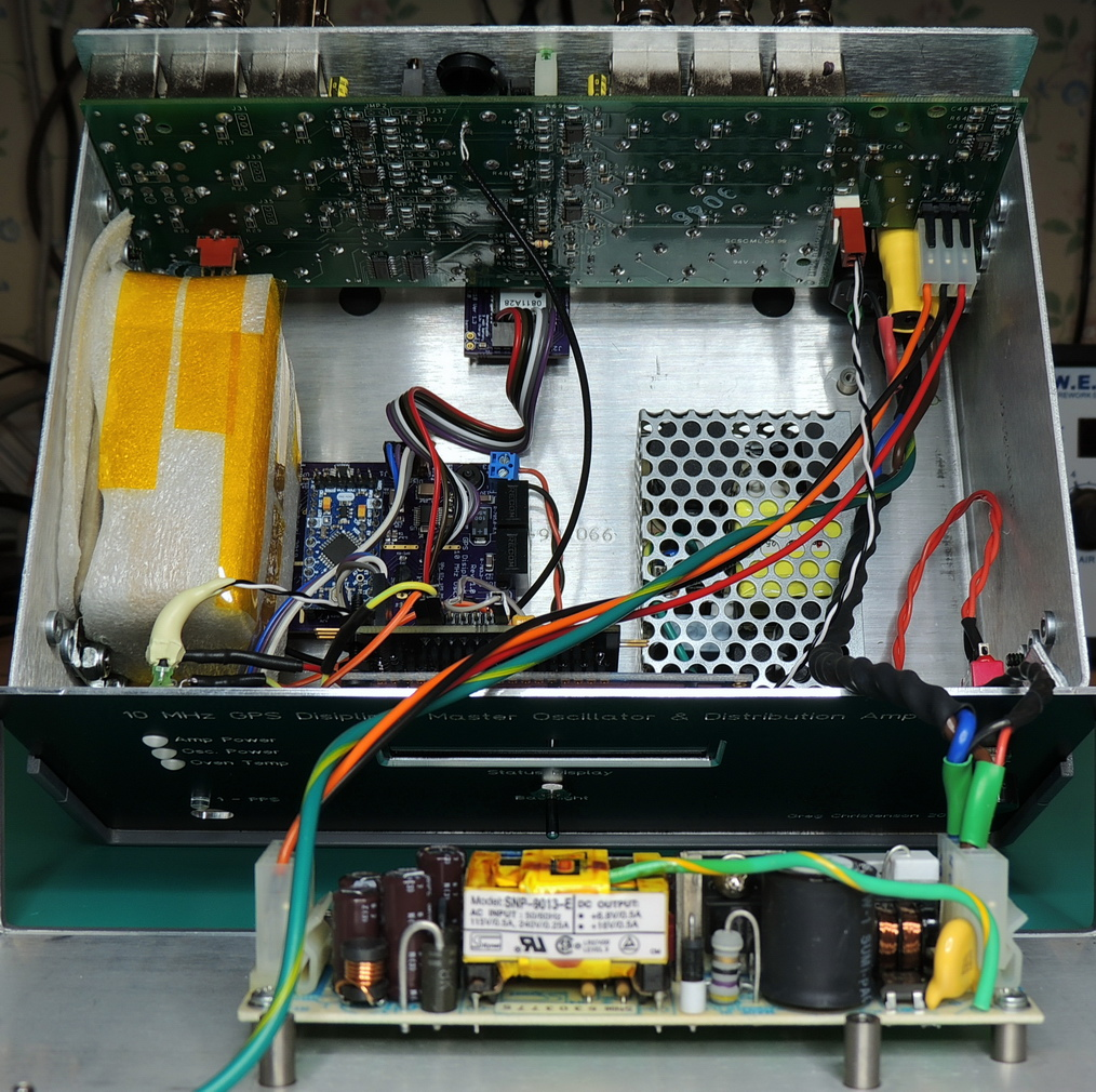 GPSDO 10MHz OCXO, main board, 12 volt power supply, Extron power supply