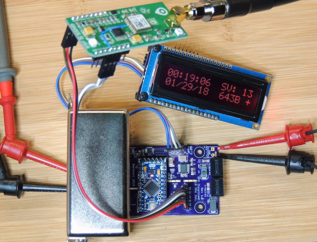 GPSDO 10MHz Test assembly with a GNSS2, GPS from MikroElectronika