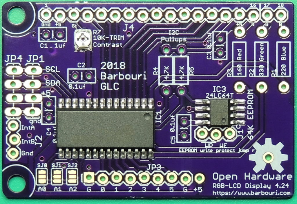 RGB-LCD display V4.24 surface mount components installed
