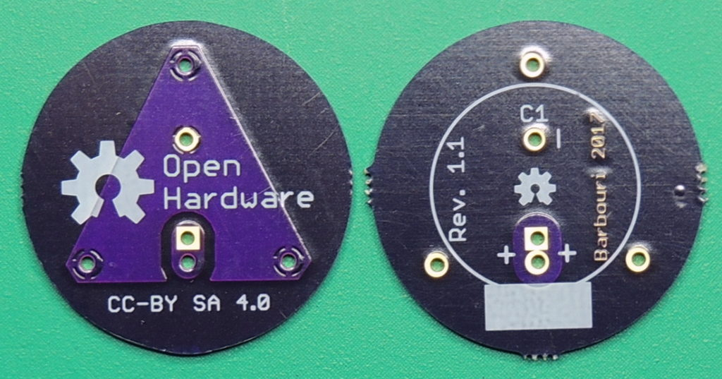HP 15.5 Rev 1.1 Capacitor board, top/bottom