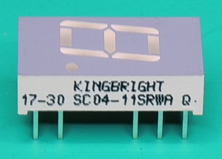 Kinbright-SC04-11SRWA LED 7 segment display