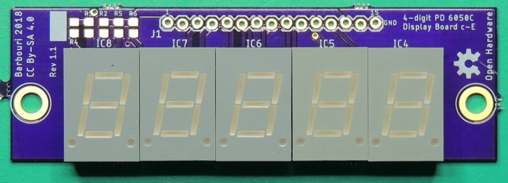 PD 6050C Multi-meter 7-segment display assembly