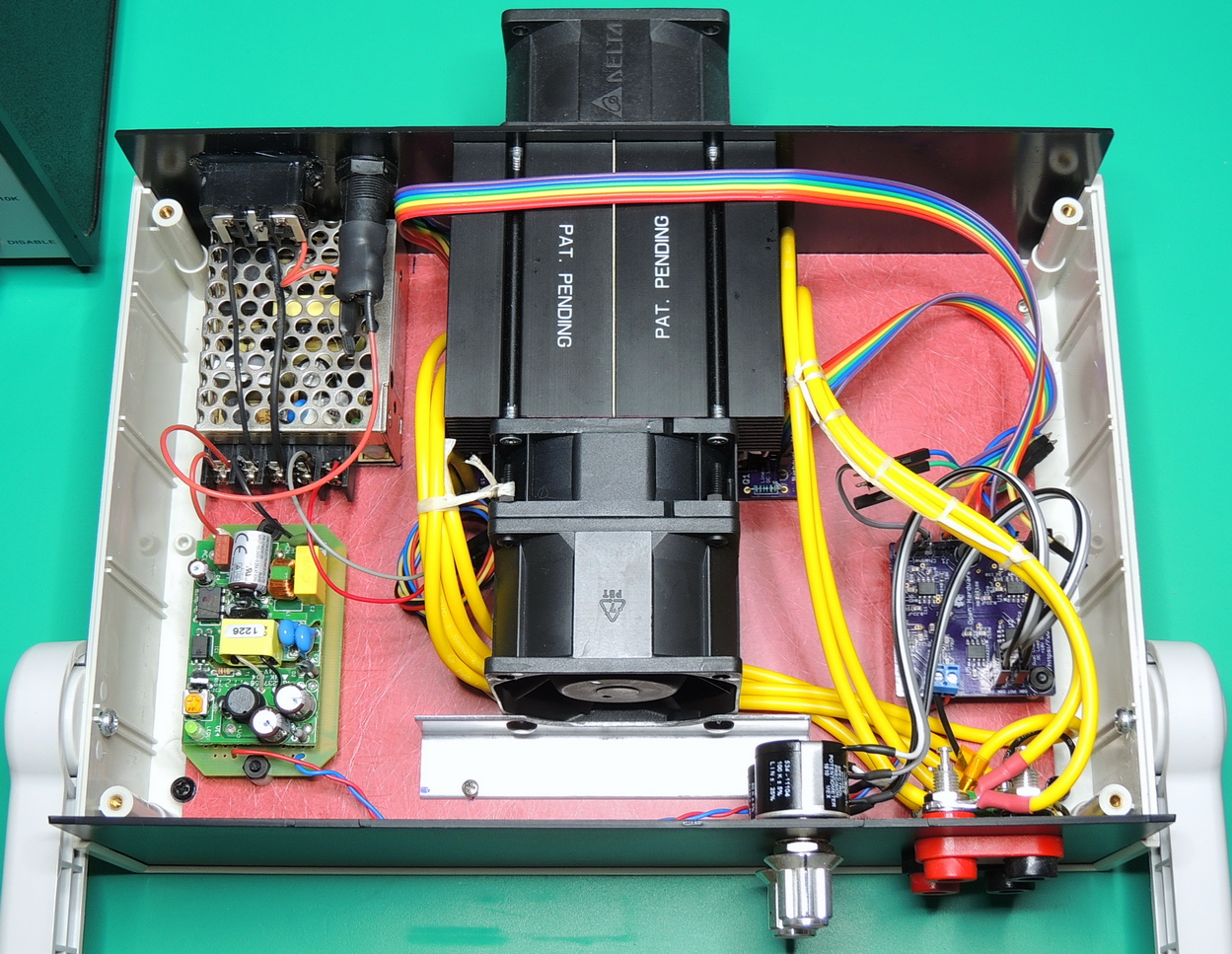 Dual Electronic Load  assembly view from top