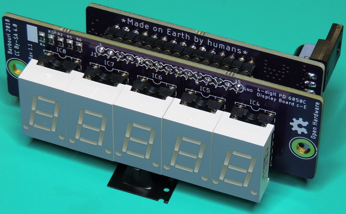 Power Designs 6050C 4-digit display assembly with Rev. 1.1 display and Rev. 1.2 multimeter boards.