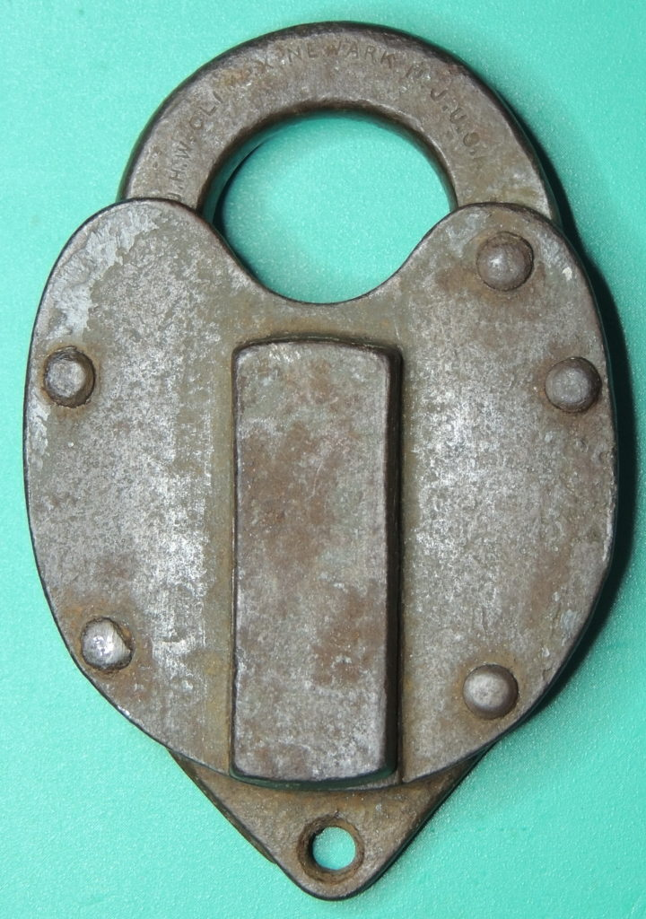 J.H.W. CLIMAX Co Steel Padlock front side
