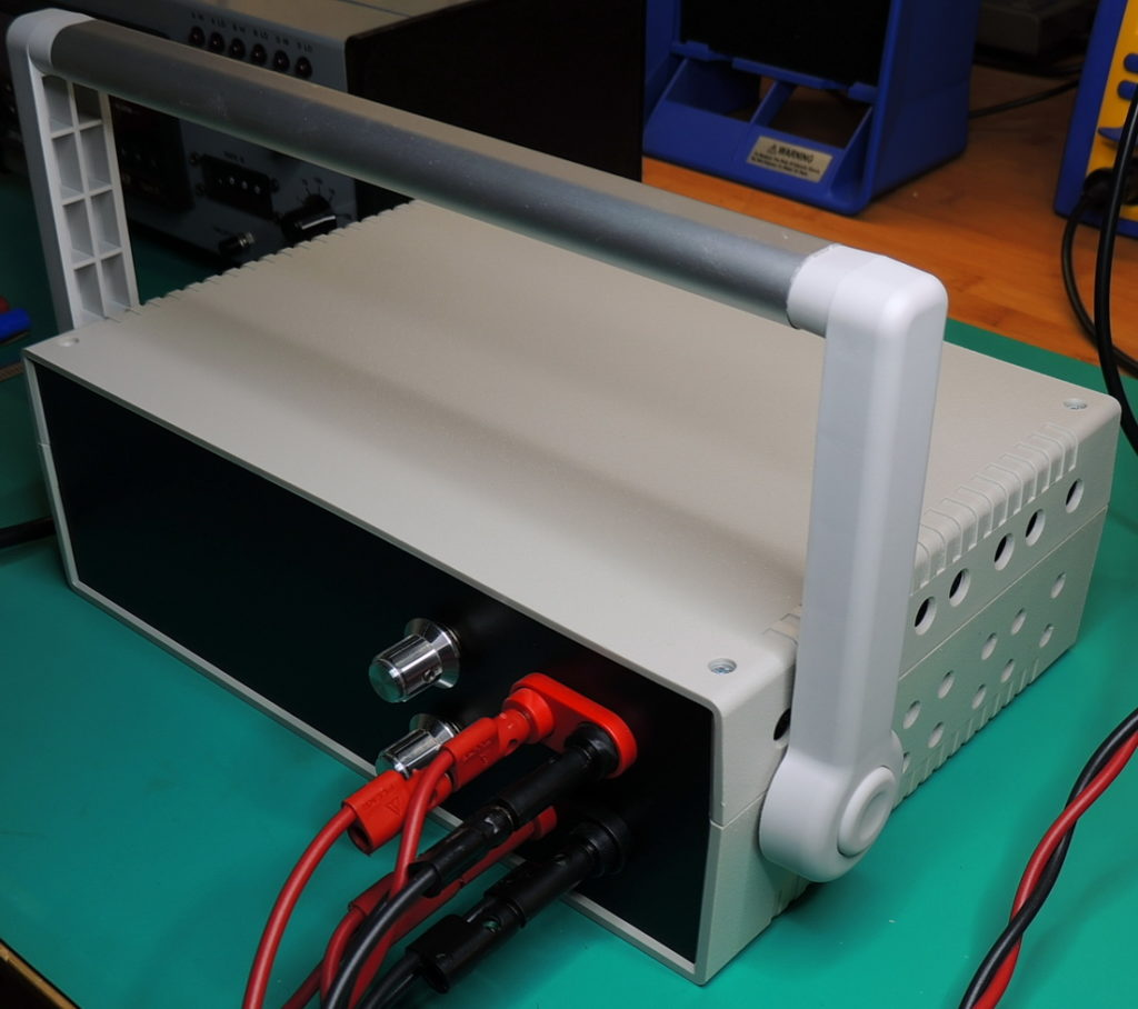 DC Load enclosure with drilled sides