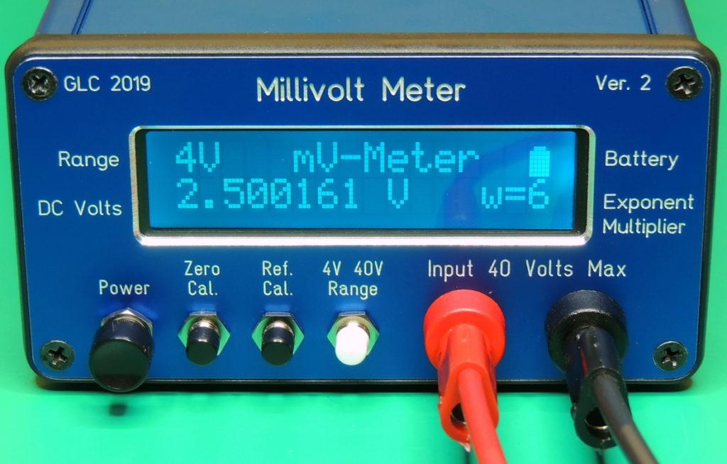 MilliVolt Meter V 2.11 Front 4 Volt range