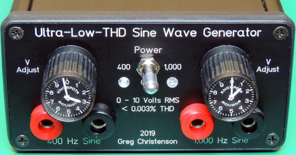 Ultra-Low THD Sine Wave Generator